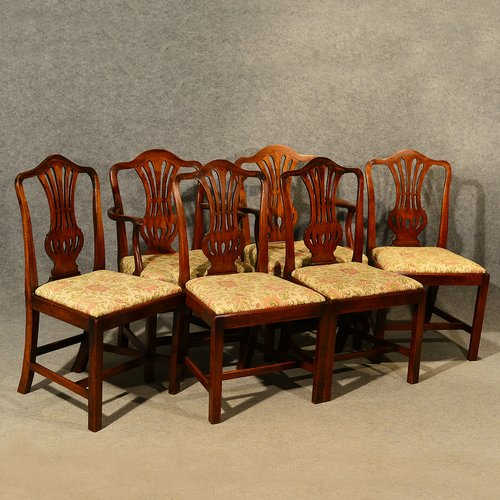 Antique Dining Chairs Set Of 6 With Carvers Antiques Atlas