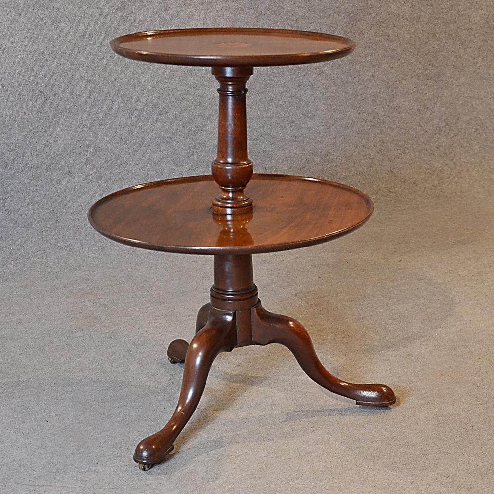 Antique Dumb Waiter Lamp Tea Table Server Display