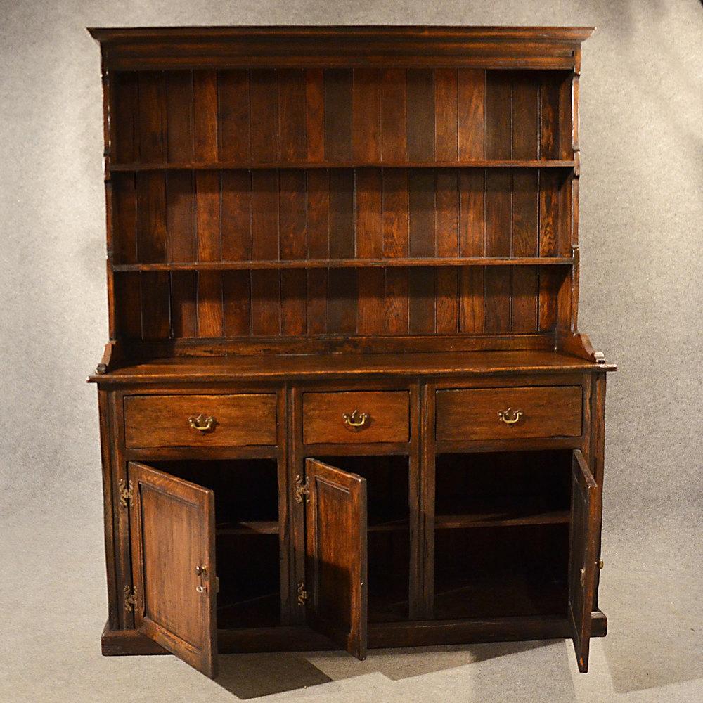 Country Kitchen Dresser: Antique Elm Welsh Dresser Country Kitchen Display
