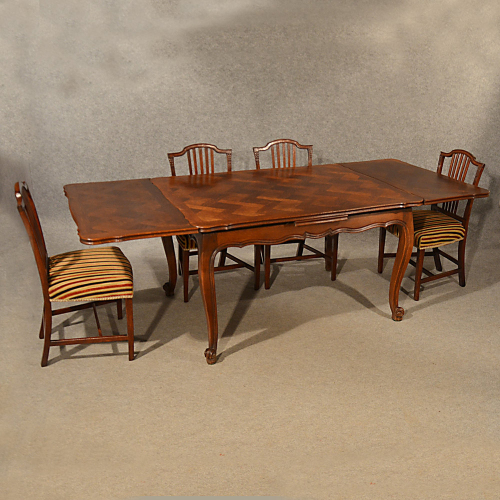 Antique Extending Kitchen Dining Table French Oak