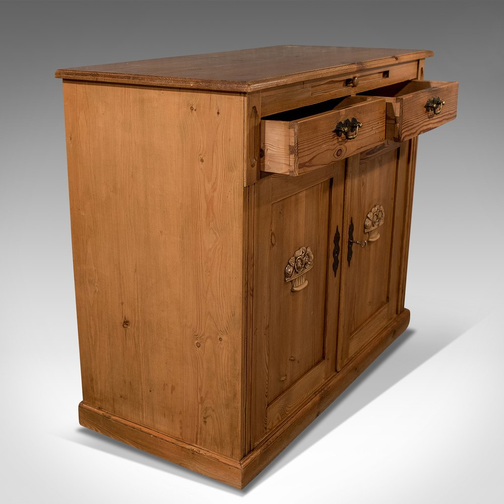Antique french pine cabinet cupboard antiques atlas for Antique pine kitchen cabinets