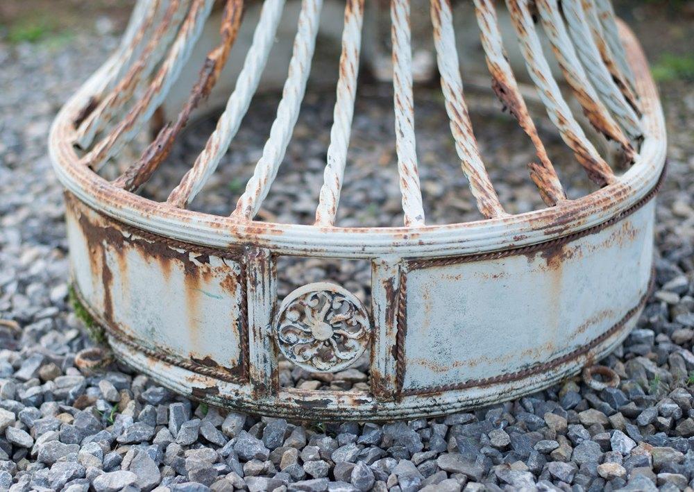Antique Garden Swing Bench Vintage French