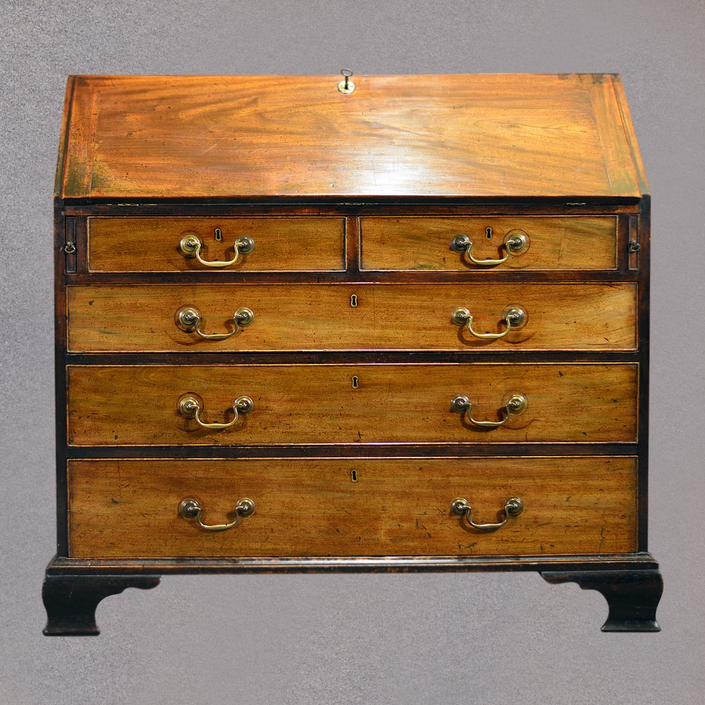 antique george iii bureau mahogany english antiques atlas. Black Bedroom Furniture Sets. Home Design Ideas