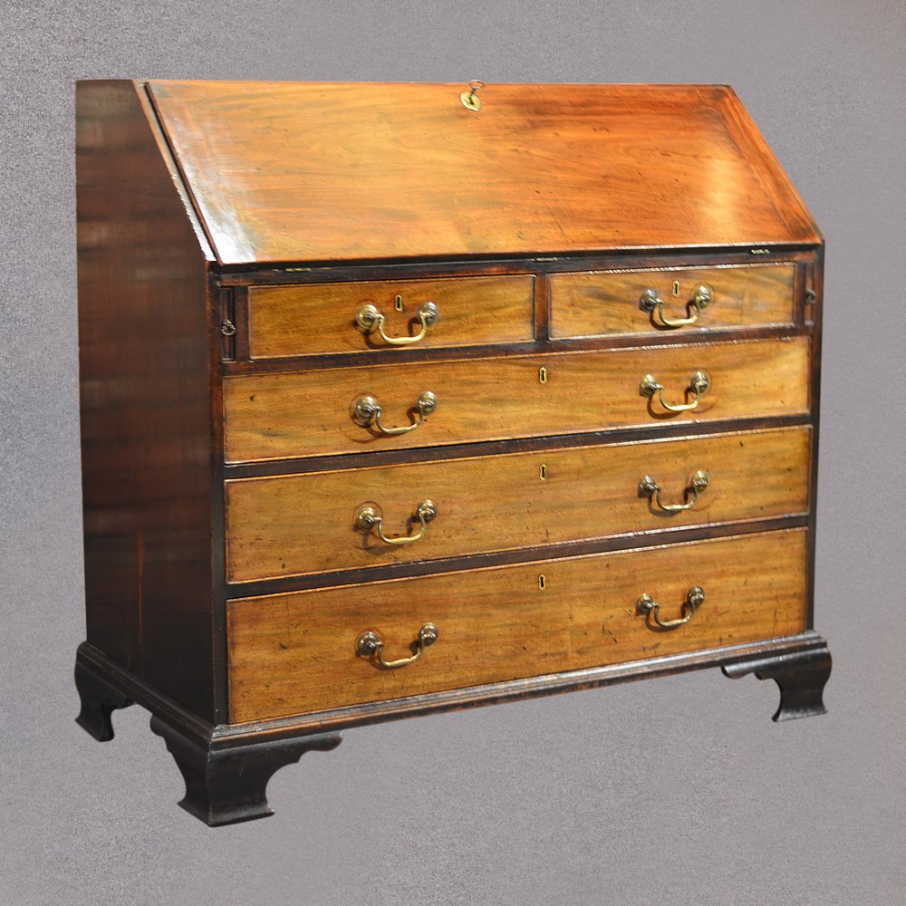 antique george iii bureau mahogany english antiques atlas. Black Bedroom Furniture Sets. Home Design Ideas