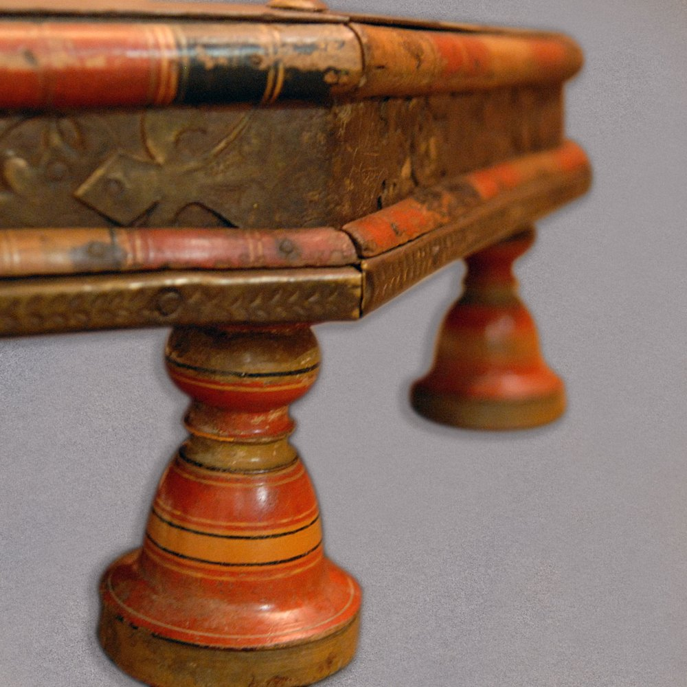 Antique Indian Coffee Tables: Antique Gujarat Takhat, Indian Low Coffee Table, 1