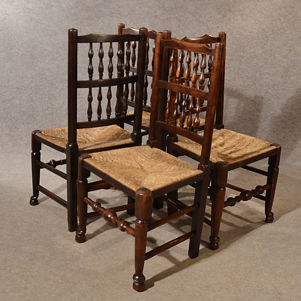 Kitchen Chairs Vintage: Antique Kitchen Dining Chairs Lancashire Spindle