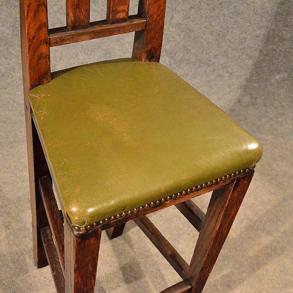 Antique Leather Tall Bar Machinist Stool Oak Antiques Atlas