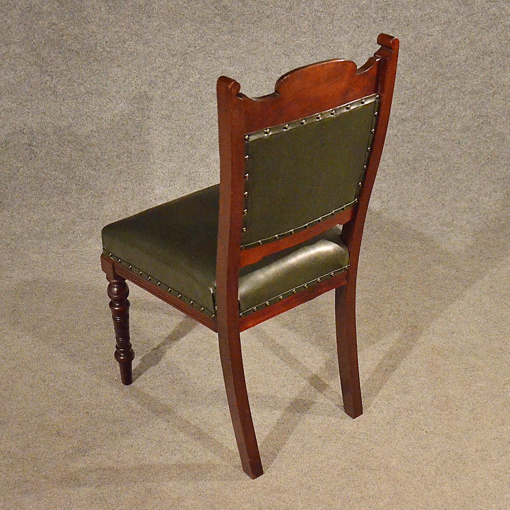 Antique leather upholstered dining chairs quality for Dining chairs with upholstered seats