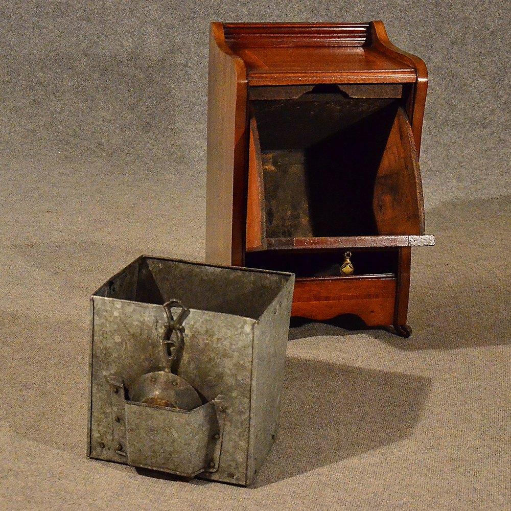 Antiques Atlas Antique Log Bin Coal Purdonium Fire Side