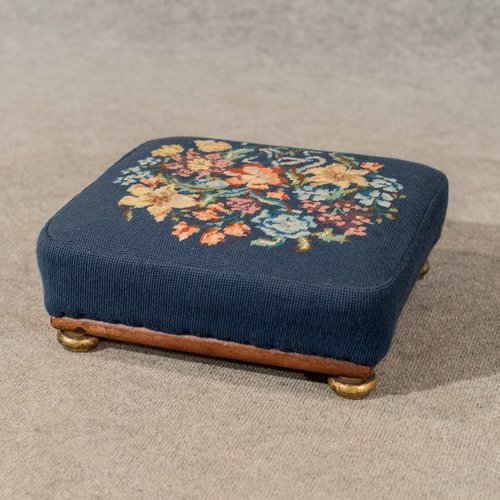 Antique Low Footstool Small Stool Foot Gout Needle