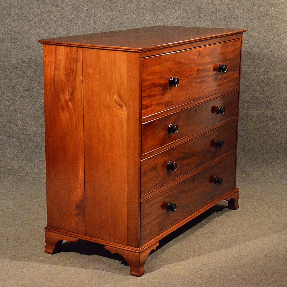 Antique mahogany bureau chest drawers secretaire for Bureau secretaire