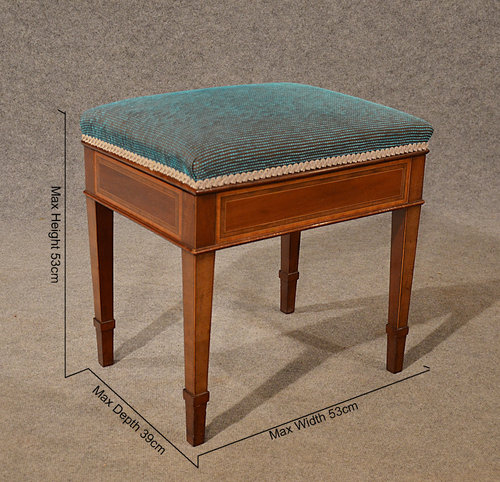 Antique Music Piano Stool Seat With Storage Top Antiques