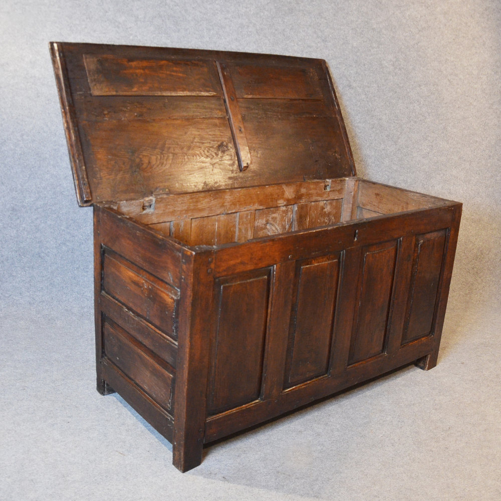 Antique Oak Coffer Chest Box Trunk English Antiques Atlas