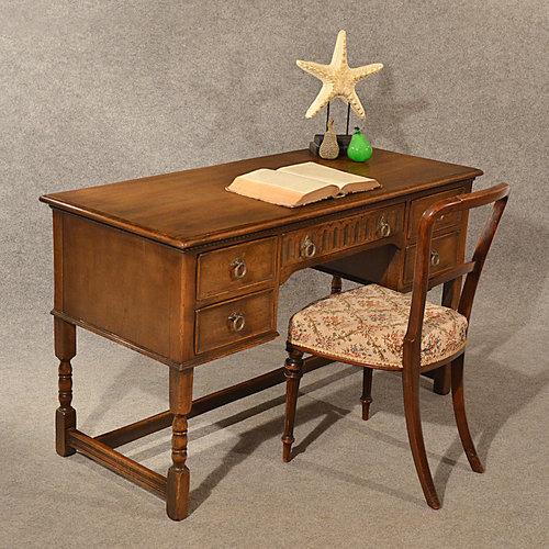 Antique Oak Writing Desk Study Office Table Antiques Atlas