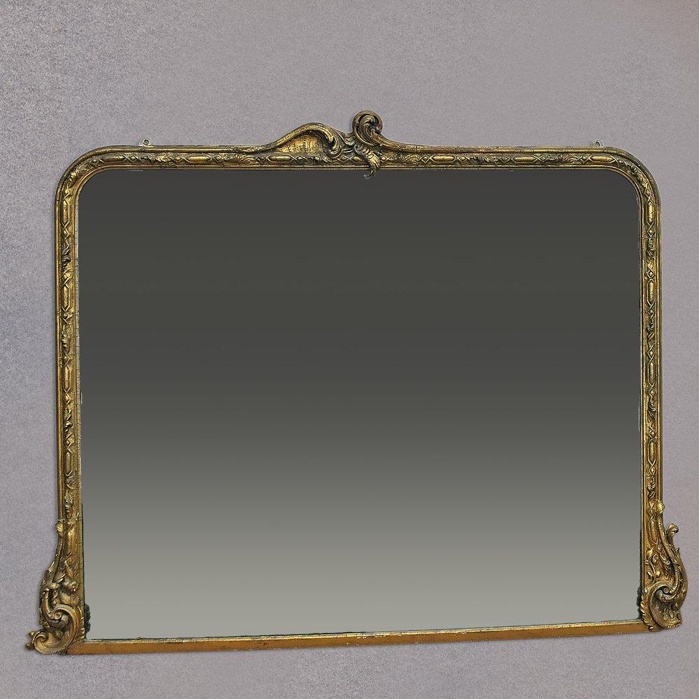 Antiques Atlas Antique Overmantel Mirror Large Victorian