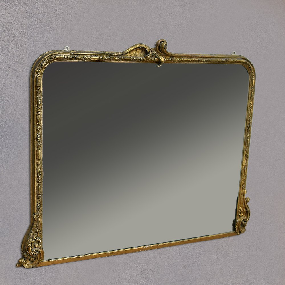 Antiques atlas antique overmantel mirror large victorian for Victorian mirror