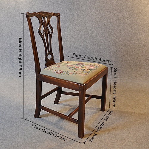 ... Dining Chairs Antique Set ... - Antique Set 6 Dining Chairs Victorian Chippendale - Antiques Atlas
