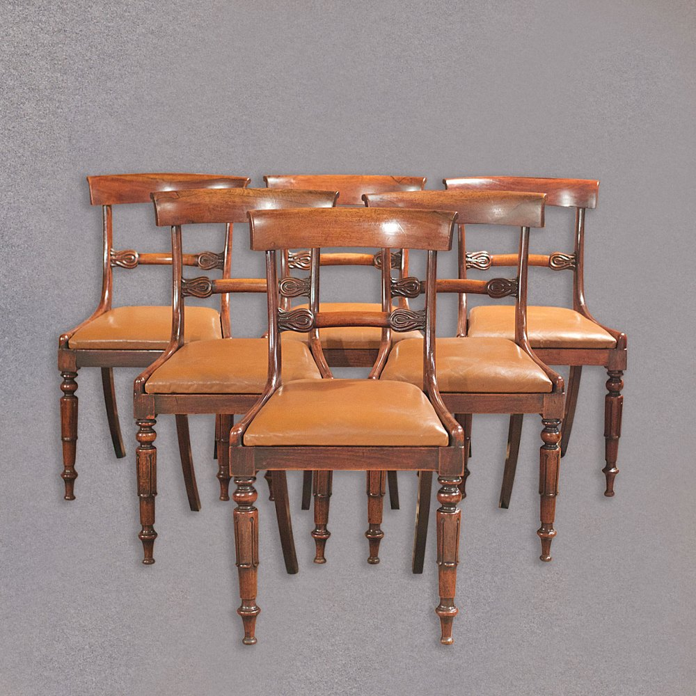 Antique Set Of 6 Dining Chairs William IV Carved Antiques Atlas