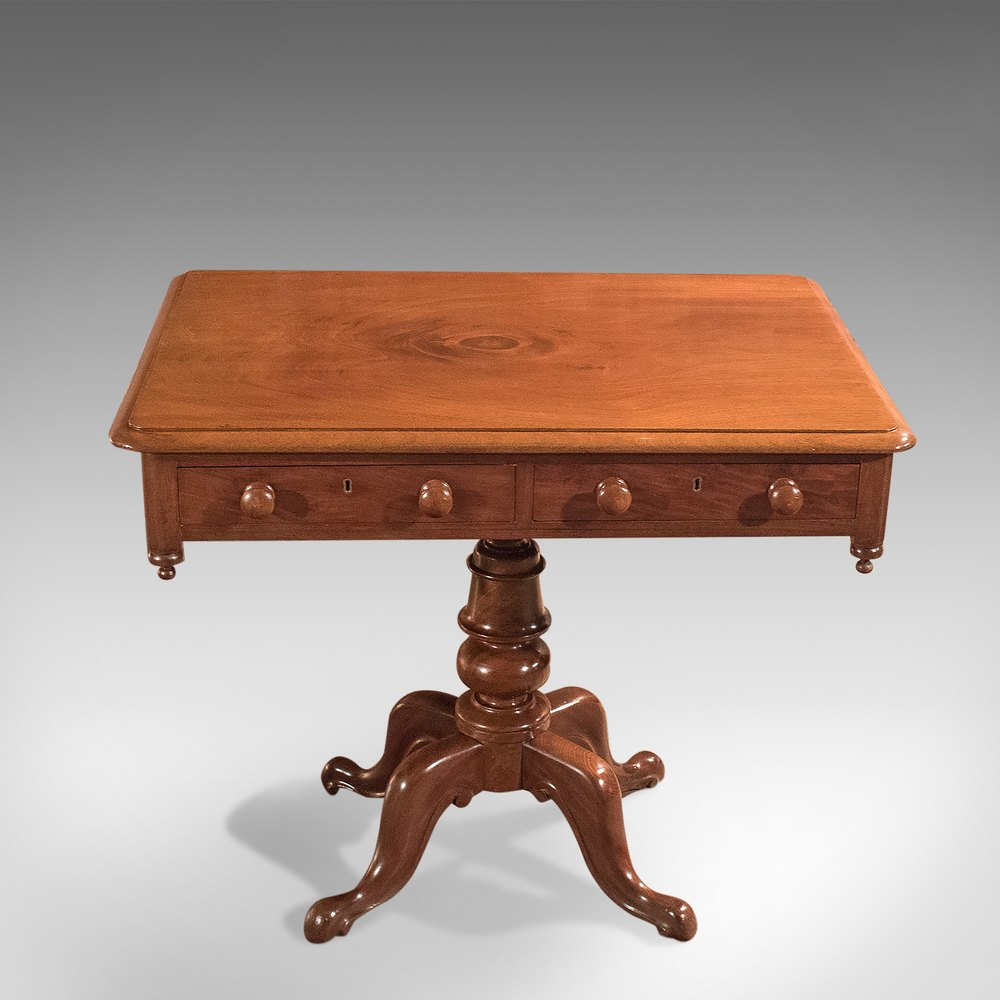 Antique Side Table English Victorian Mahogany Circa 1880