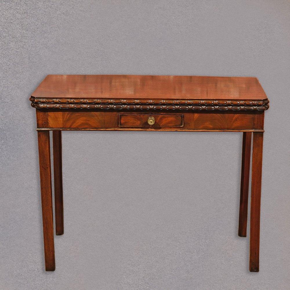 Antique regency mahogany tea table antique card tables uk antique - Antique Side Table Georgian Mahogany Fold Over Card Table Antique Card Tables Antique Side