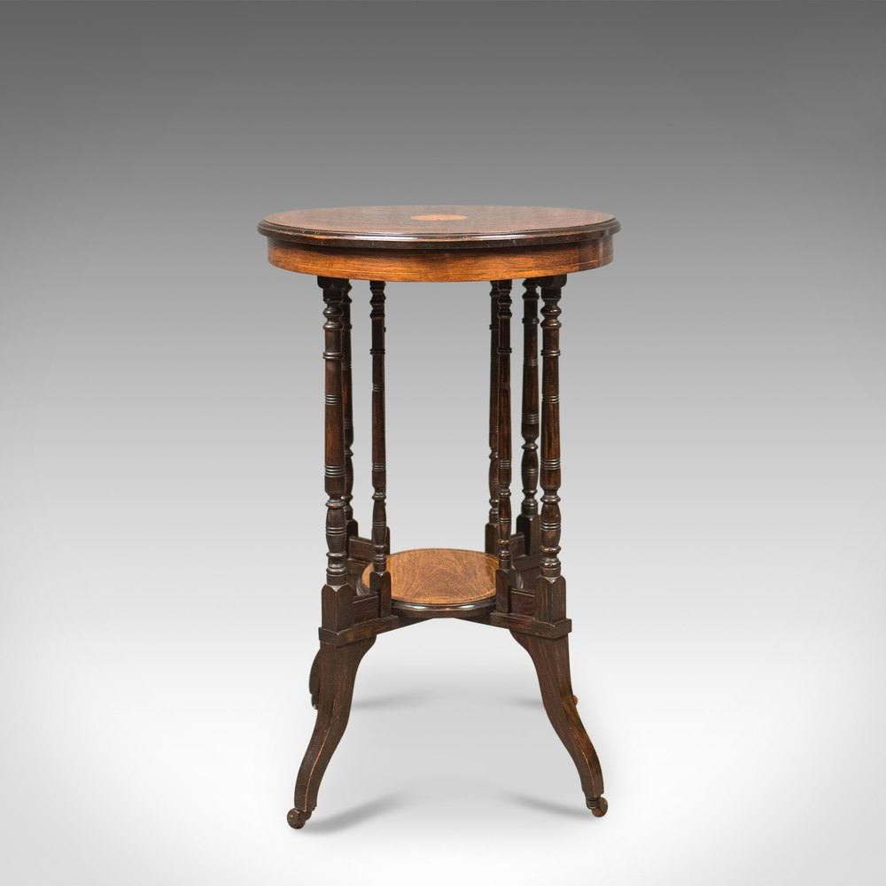 antique side table  victorian rosewood  english c 1880