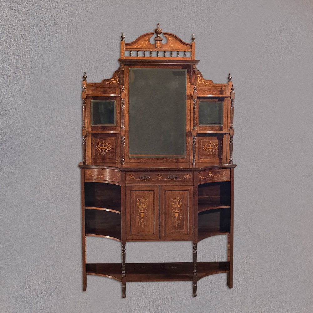 antique sideboard edwardian mirror back c1910 antiques. Black Bedroom Furniture Sets. Home Design Ideas