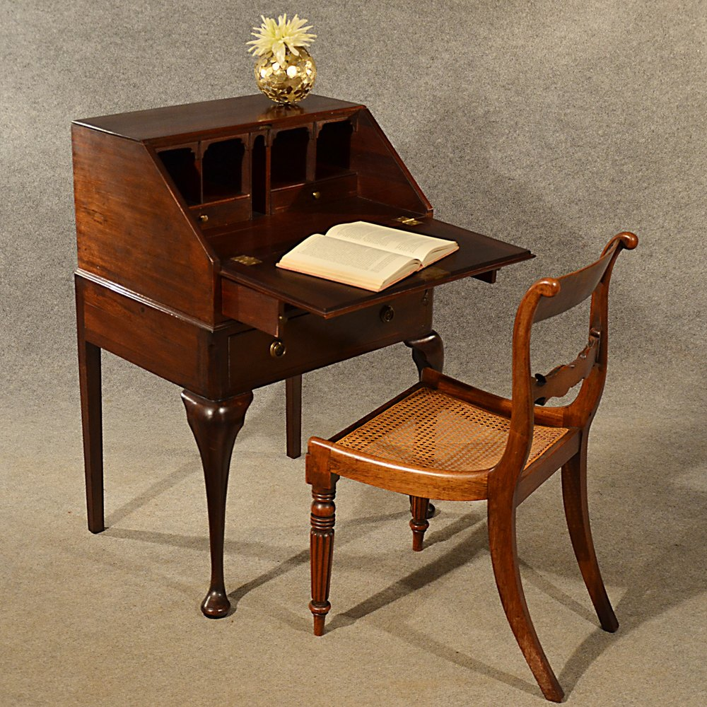 Antique Small Bureau Campaign Writing Study Desk