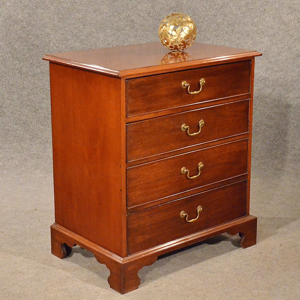 Antique small chest of drawers bedside cabinet antiques