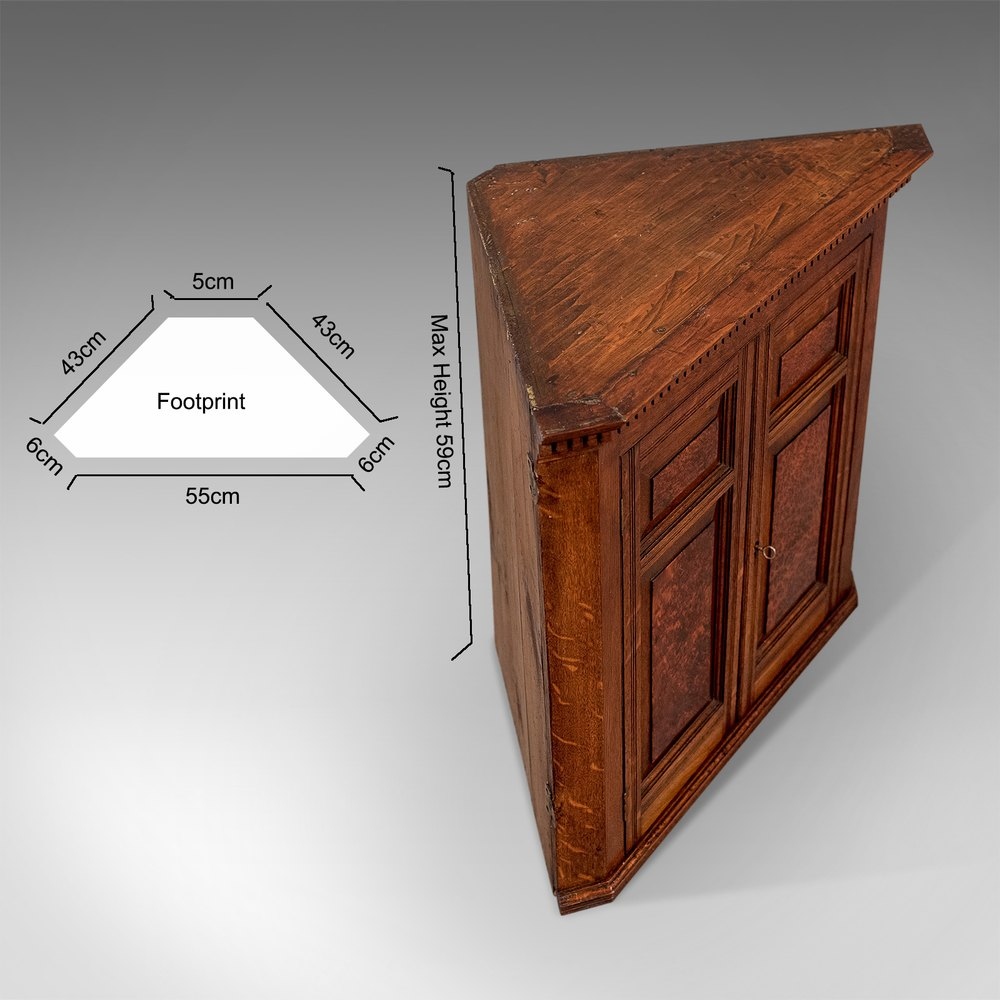 antique small corner wall cabinet cupboard oak antiques Small Corner Cabinet with Glass Small Corner Cabinet White