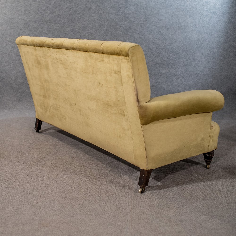 Antique small settee couch 2 seat sofa top quality for Where to buy a quality sofa