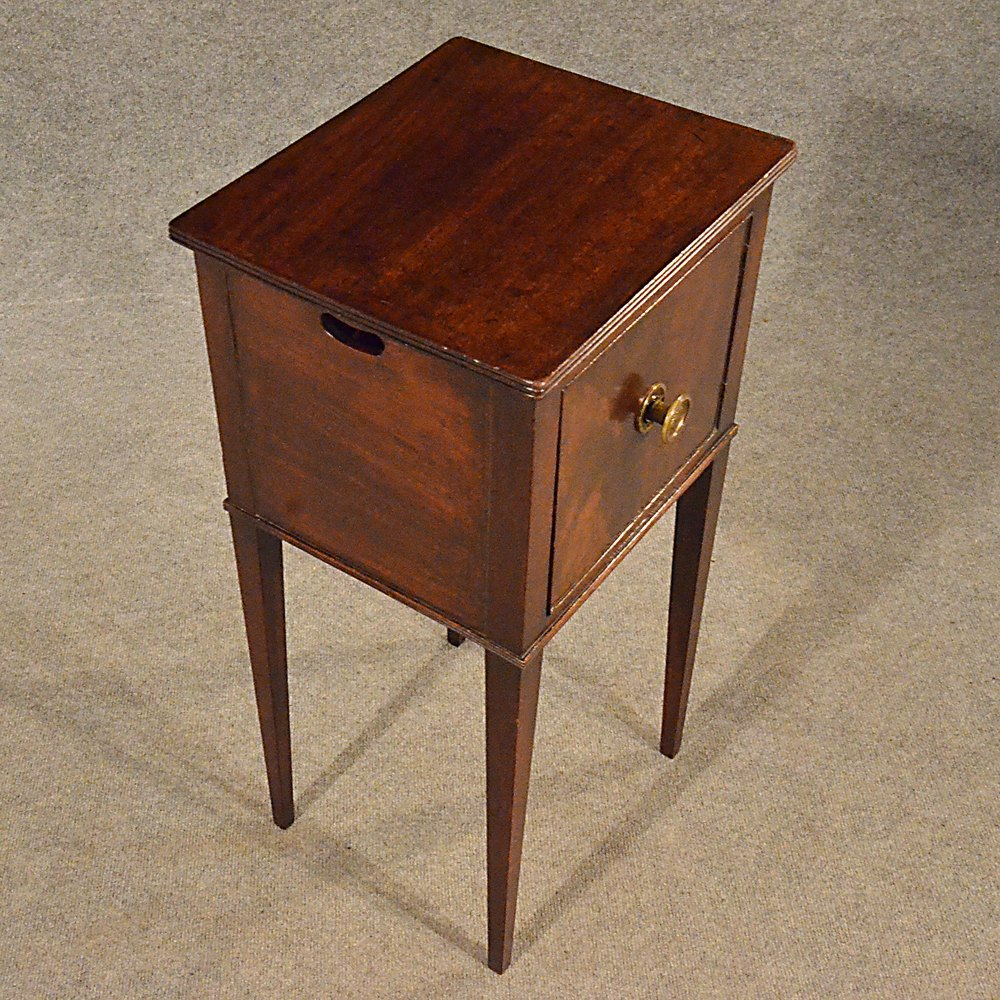 Antique Small Side Cabinet Bedside Lamp Stand Pot