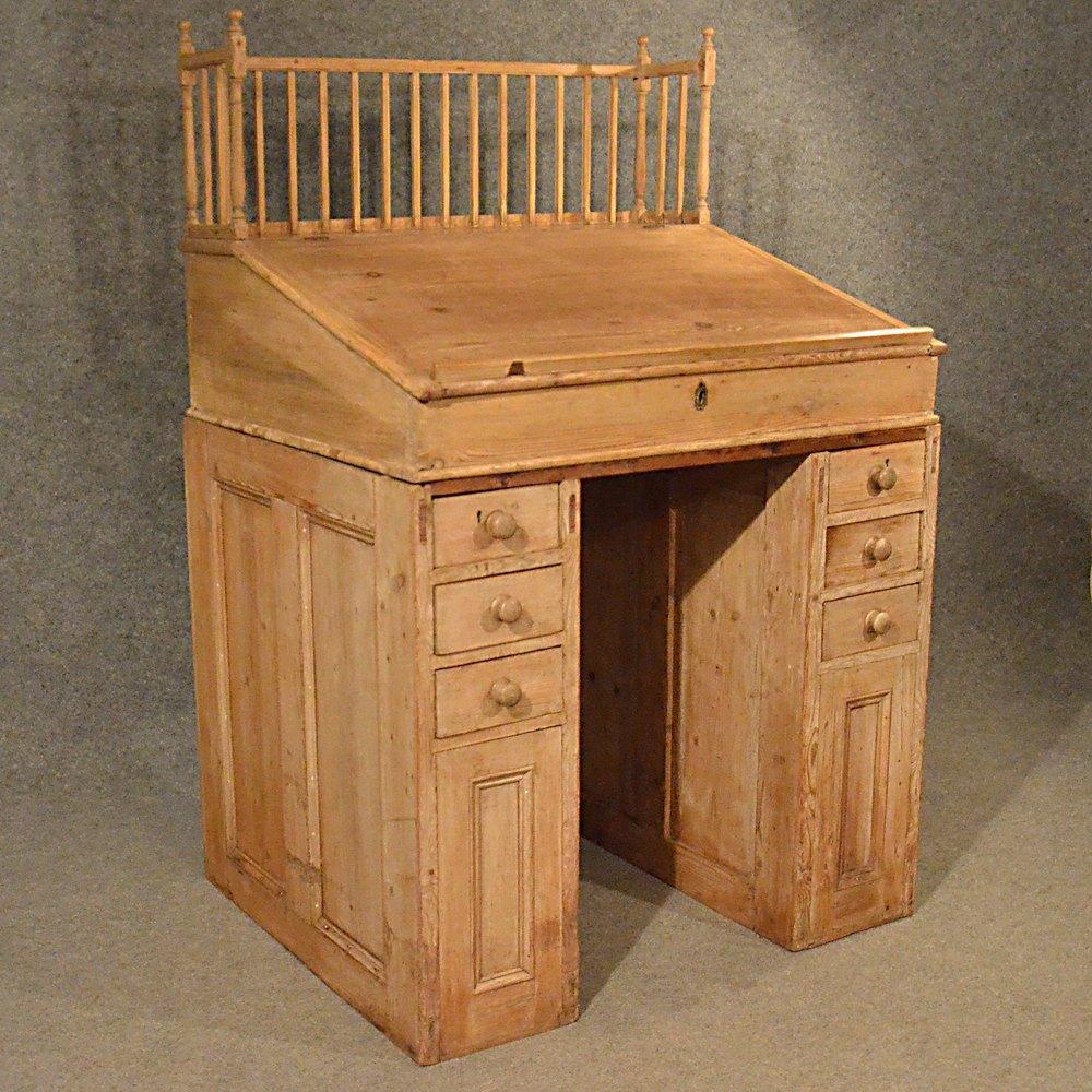 Antique standing desk study office clerks bureau antiques atlas - Antique office desk ...