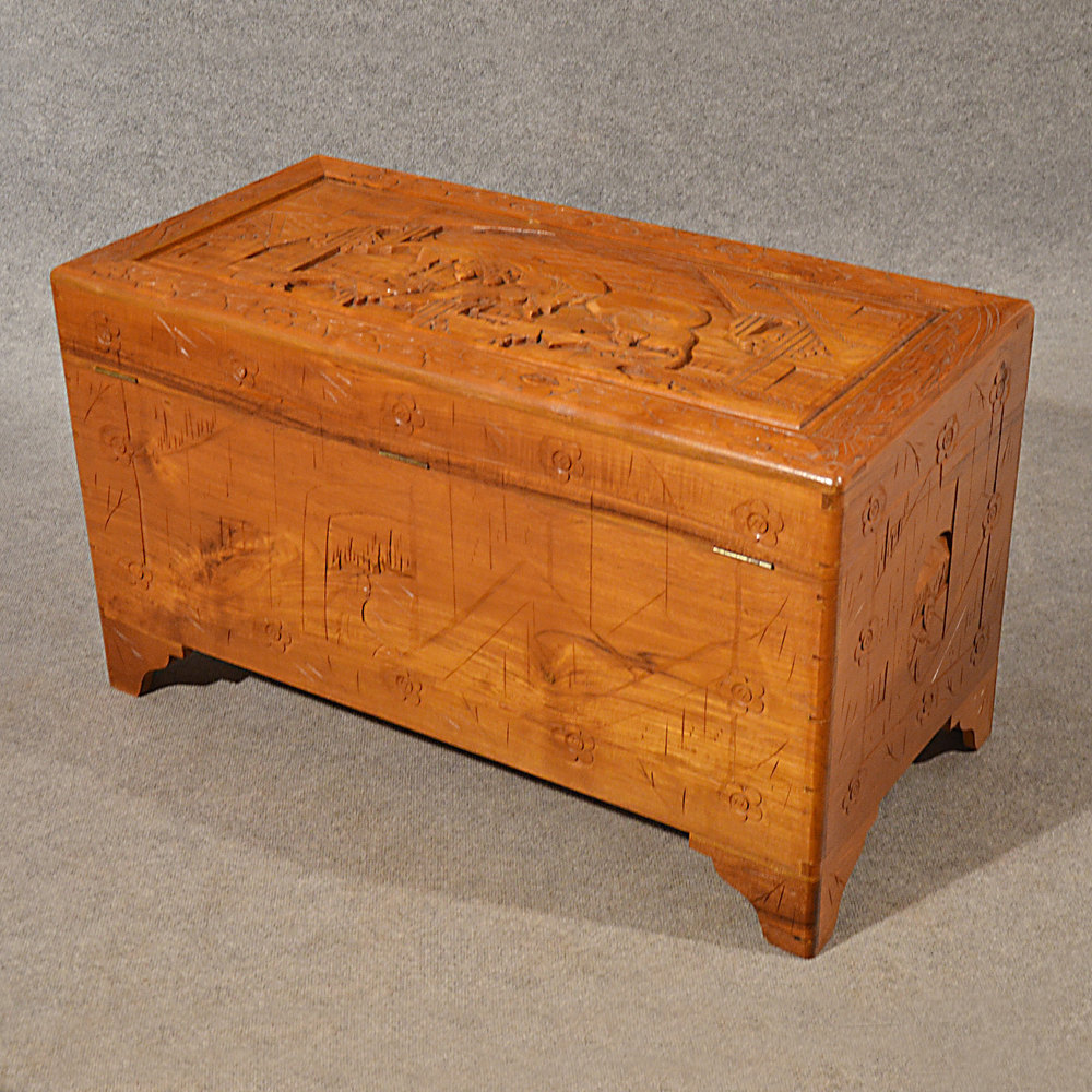 Antiques atlas antique storage chest camphor wood trunk