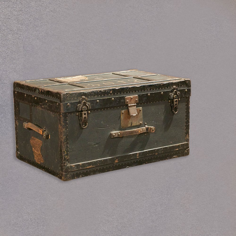 Antique Swiss Military Officer S Trunk Chest Antiques