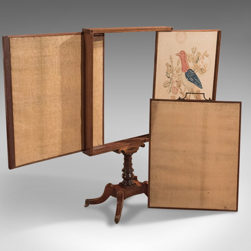 Exhibition Stand Vintage : Antique tapestry display stand regency mahogany