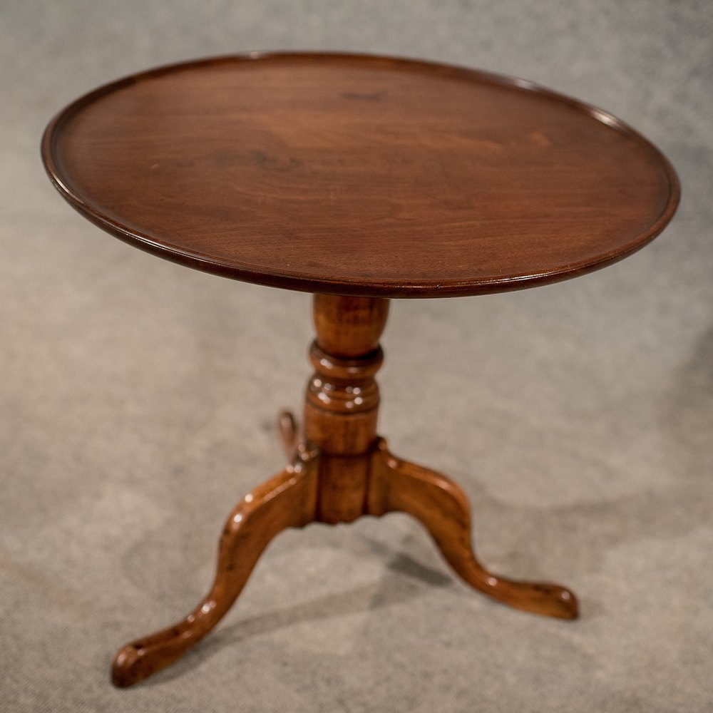 Antique tripod wine side lamp table quality english for Side and lamp tables