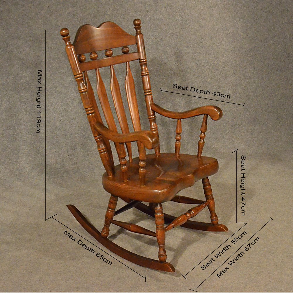 Antiques Atlas - Antique Windsor Rocking Chair Large