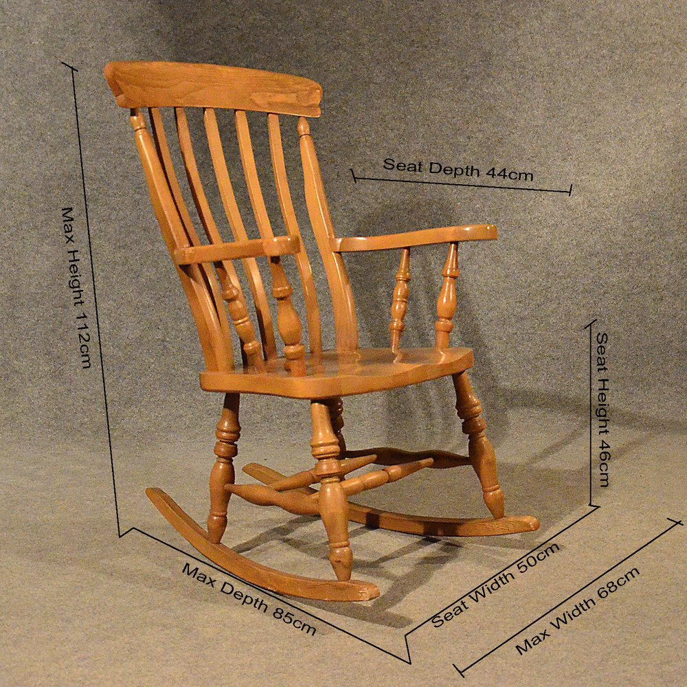 Antique Windsor Rocking Chair Large Beech Easy - Antiques Atlas