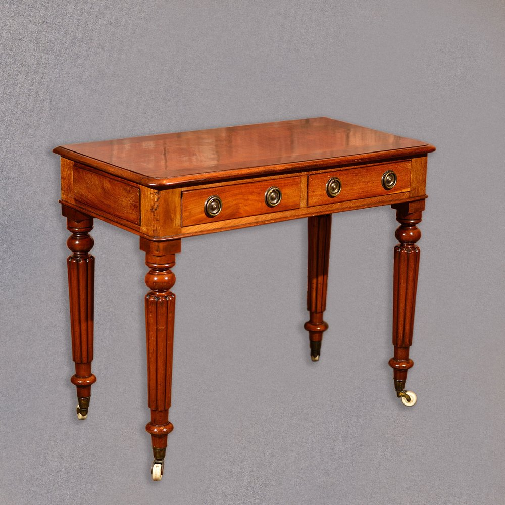 Antique Writing Desk ~ Antique writing table regency mahogany desk antiques atlas