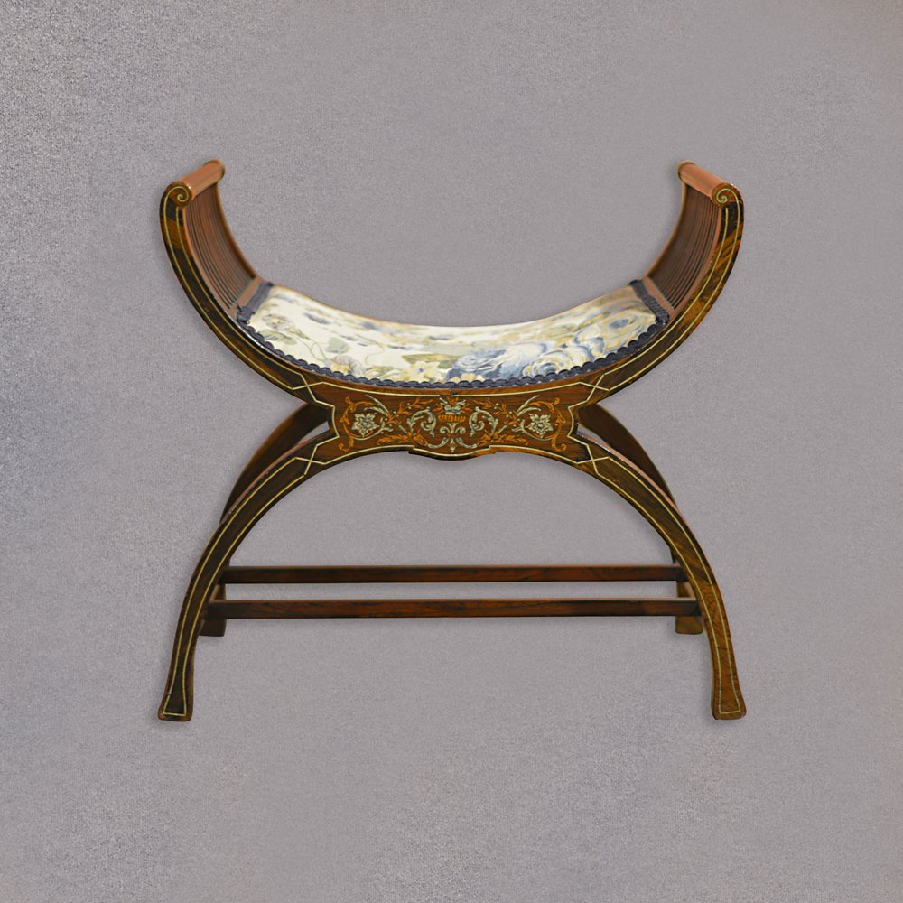 Antique X Frame Stool Piano Seat English Antiques Atlas