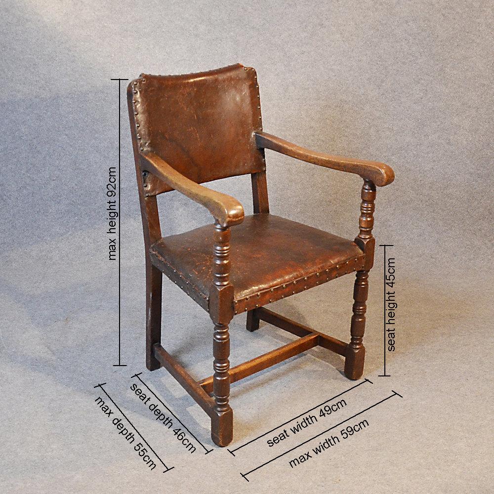 Armchair Carver Chair Cromwellian Revival Antiques Atlas