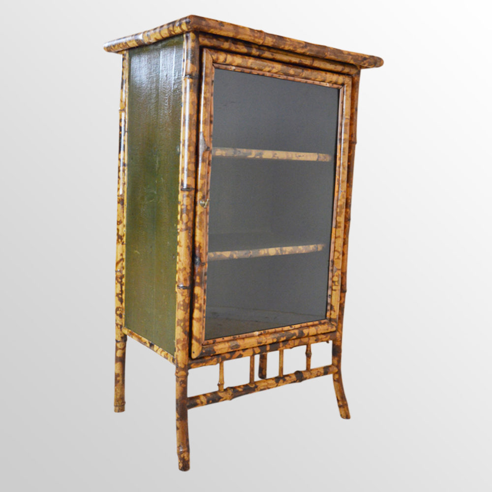 Bamboo cabinet chinese lacquer display cupboard antiques for Bamboo kitchen cabinets for sale