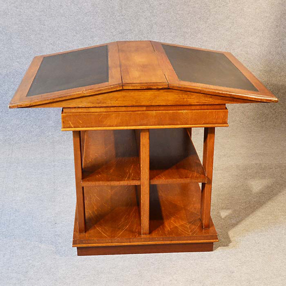 bookcase writing desk double library reading table antiques atlas. Black Bedroom Furniture Sets. Home Design Ideas