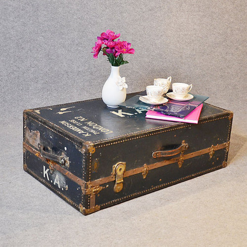 Coffee Table Shipping Trunk Travel Case Steamer