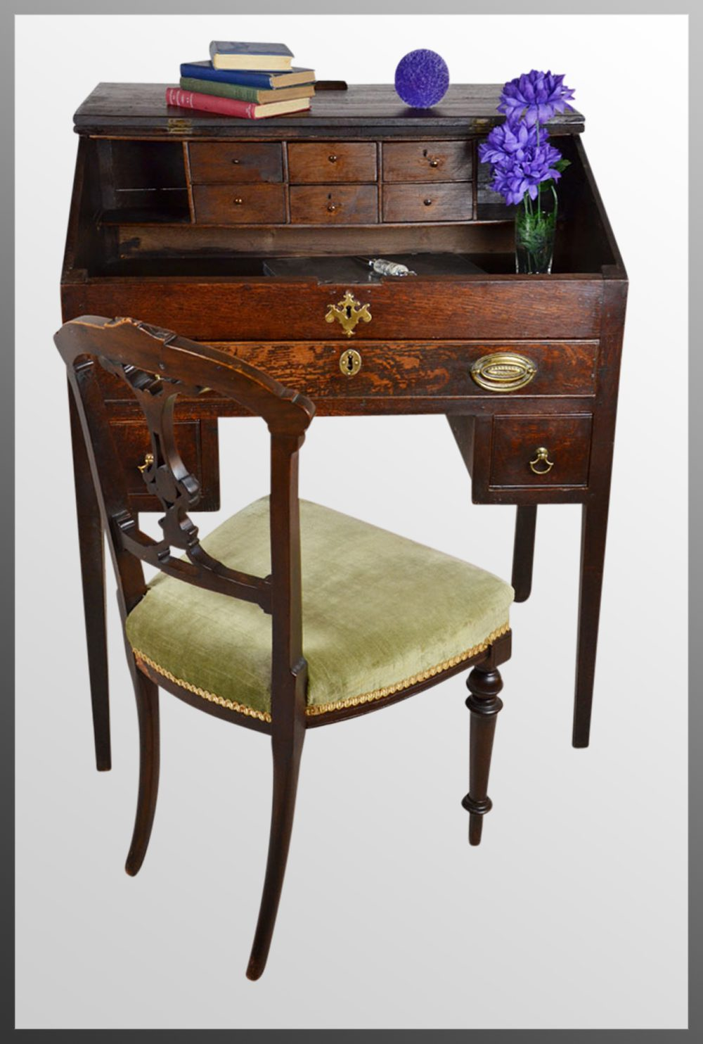 antique english writing desk Shop wayfair for all the best brass & white writing desks  lamp, an antique  vase of freshly-cut calla lilies, and a few of your favorite hardcover novels  between.
