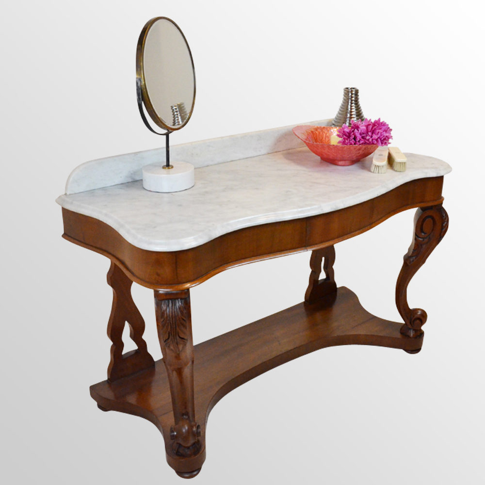 Antiques atlas louis dressing table - Dressing Table Vanity Wash Stand Marble Top Antique