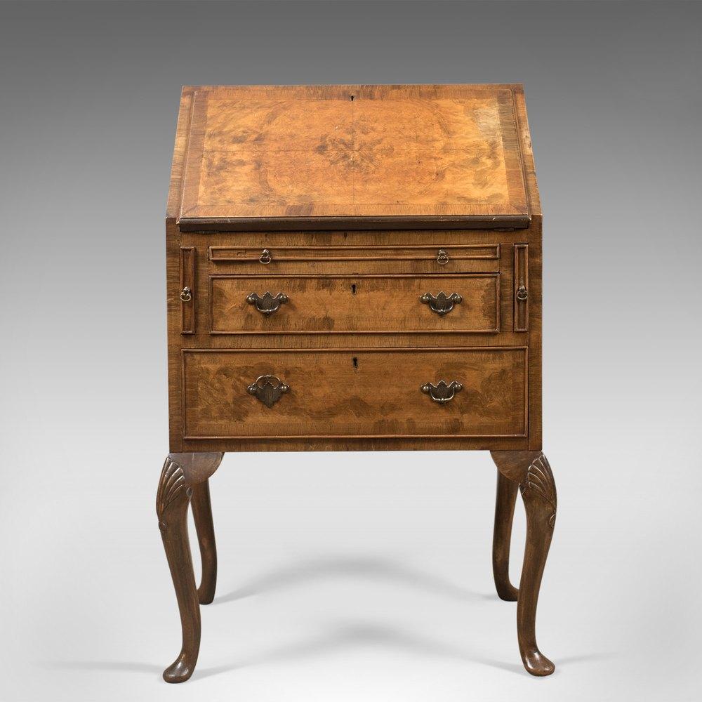 edwardian antique bureau in english queen anne antiques atlas. Black Bedroom Furniture Sets. Home Design Ideas