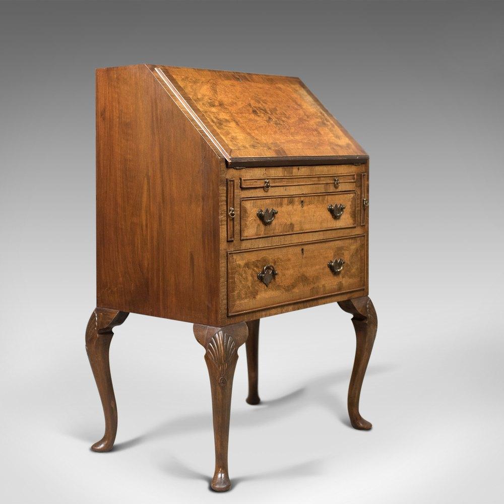 Edwardian antique bureau in english queen anne antiques for Bureau in english
