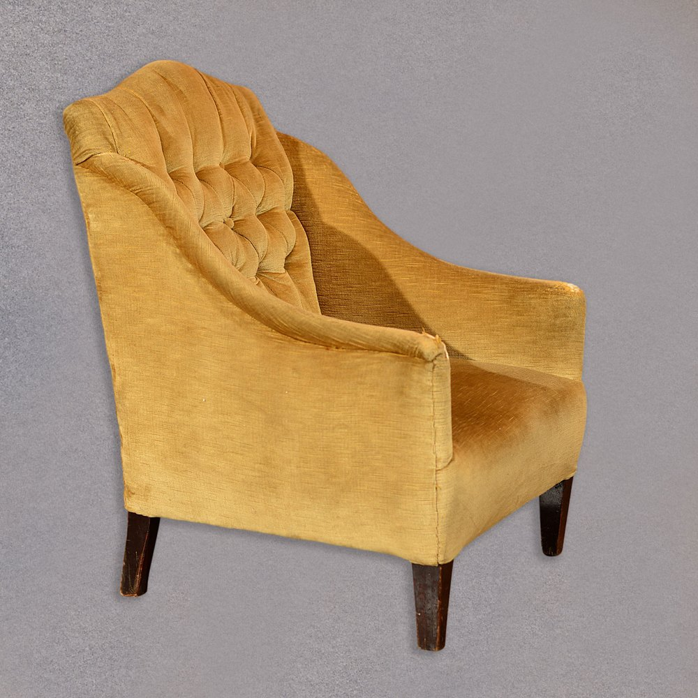 Edwardian Button Back Easy Chair C 1910 Antiques Atlas