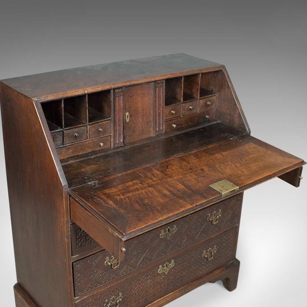 georgian antique bureau english oak writing desk antiques atlas. Black Bedroom Furniture Sets. Home Design Ideas